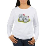 White Frizzle Cochins Women's Long Sleeve T-Shirt