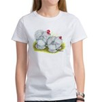 White Frizzle Cochins Women's T-Shirt