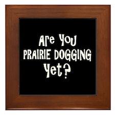 Bathroom Humor Prairie Dogging Framed Tile