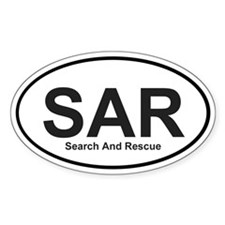 SAR Oval bumper sticker