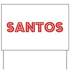 Retro Santos (Red) Yard Sign