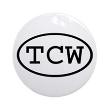 TCW Oval Ornament (Round)