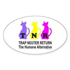 TRAP NEUTER RETURN Oval Decal