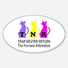 TRAP NEUTER RETURN Oval Decal