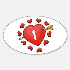 1st Valentine Oval Decal