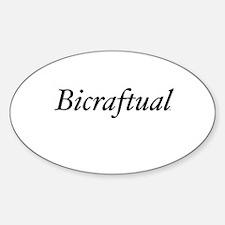 Bicraftual Oval Decal