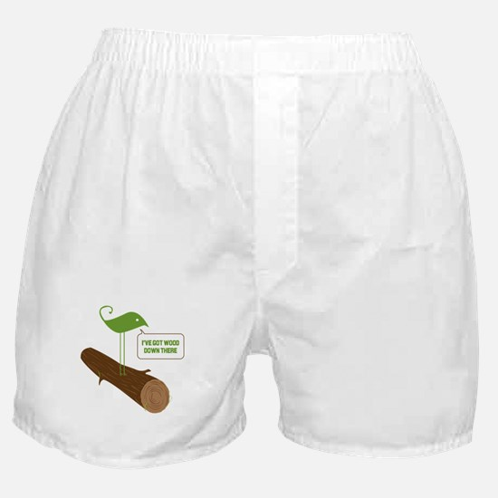 Wood down there Boxer Shorts