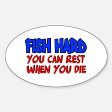 Fish Hard Oval Decal
