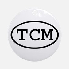 TCM Oval Ornament (Round)
