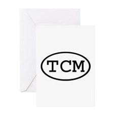 TCM Oval Greeting Card