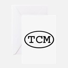 TCM Oval Greeting Card