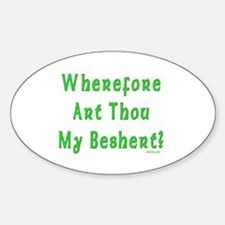 Where is My Beshert Oval Decal