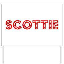 Retro Scottie (Red) Yard Sign