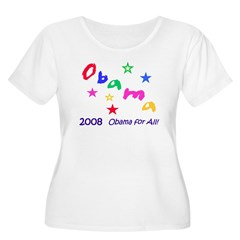 Obama for All! Women's + Size Scoop Neck T-Shirt