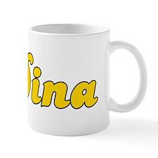 Retro Dina (Gold) Small Mugs