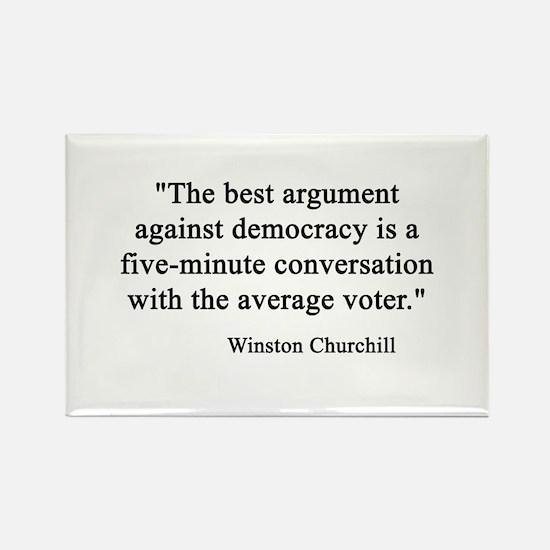 Churchill Rectangle Magnet