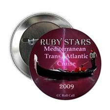 "RUBY STARS - 2.25"" Button"
