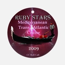 RUBY STARS - Ornament (Round)