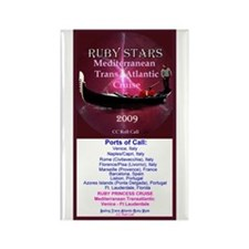 RUBY STARS - Rectangle Magnet