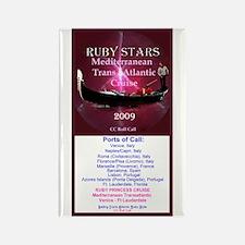 RUBY STARS - Rectangle Magnet