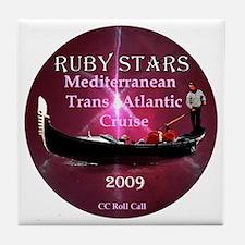 RUBY STARS - Tile Coaster