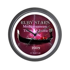RUBY STARS - Wall Clock
