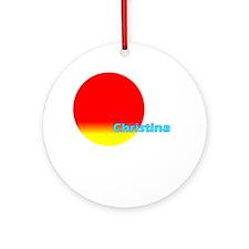 Christina Ornament (Round)