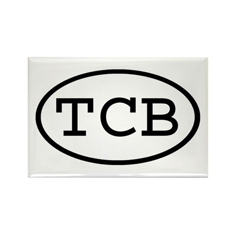 TCB Oval Rectangle Magnet (10 pack)