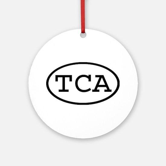TCA Oval Ornament (Round)