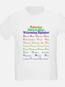 UU welcoming alphabet T-Shirt