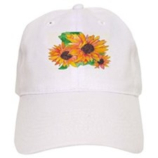 SUNFLOWER SPLASH/GIRASOL CHAPOTEO Baseball Cap