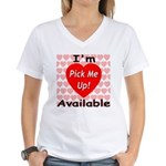 Everlasting Love Heart Women's V-Neck T-Shirt