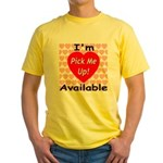 Everlasting Love Heart Yellow T-Shirt