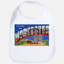Worcester Massachusetts Greetings Bib
