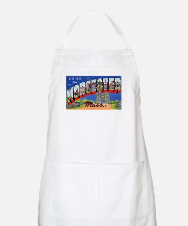Worcester Massachusetts Greetings BBQ Apron
