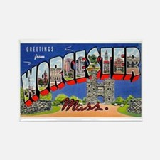 Worcester Massachusetts Greetings Rectangle Magnet