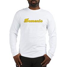 Retro Domenic (Gold) Long Sleeve T-Shirt