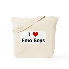 I Love Emo Boys Tote Bag