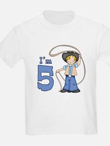 Cowboy Roper 5th Birthday T-Shirt
