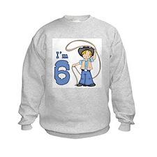 Cowboy Roper 6th Birthday Sweatshirt