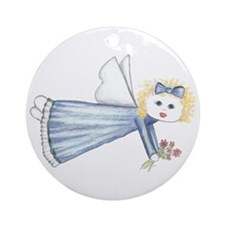Blue Angelica Angel Ornament (Round)