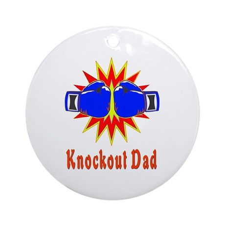 Knockout Dad Ornament (Round)