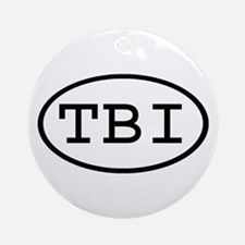 TBI Oval Ornament (Round)