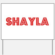 Retro Shayla (Red) Yard Sign