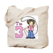 Cowgirl Roper 3rd Birthday Tote Bag