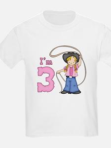 Cowgirl Roper 3rd Birthday T-Shirt