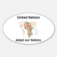 Adopt a Nation Oval Decal
