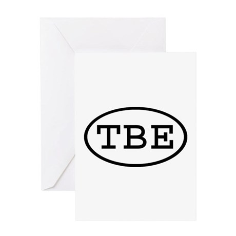 TBE Oval Greeting Card