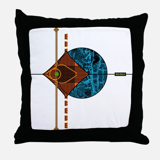 Interplanetary Interplay Throw Pillow
