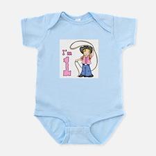 Cowgirl Roper First Birthday Infant Bodysuit